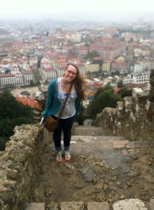 On top of a castle (In Lisbon)!